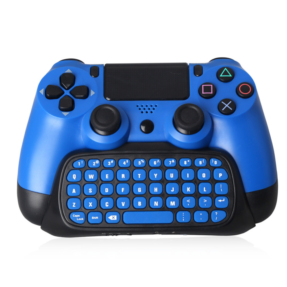 Mutilfunction 2 in 1 Bluetooth Mini 2.4G Wireless Chatpad Message Keyboard Game Consoles for PS4 slim Controller