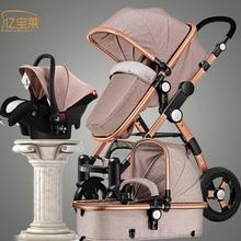 YIBAOLAI baby stroller high landscape can sit or lie down carrinho de bebe baby stroller RU