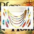 Временное боди-арт SHNAPIGN, 25 видов, золотистые красные желтые перья, наклейка для татуировок, водонепроницаемость 3-5 дней, 21*15 см