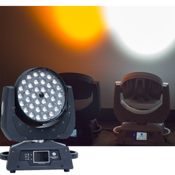 UK Warehouse (Pack of 2) Stage Light-36*18W 6in1 RGBAW UV ZOOM LED Moving Head Wash Light With DMX Touch Screen