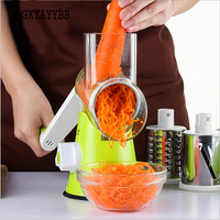 Multifunction Vegetable Cutter Round Stainless Steel Fruit Slicer Potato Grater Kitchen Accessories Carrot Peeler Tools Hot Sell