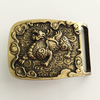 Retail New Style Solid Brass Belt Buckle 7 1 5 2cm Yellow Love Buckle For 4