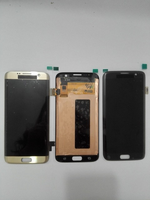 100% testado para samsung galaxy s7 edge g935 g935f g935a g935fd g935p display lcd digitador da tela de toque azul ouro branco