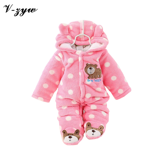 a343210a60a1 Baby animal winter rompers overall children s warm clothes4-12brand  jumpsuit babies romper newborn clothing overalls