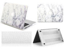 New White Marble Rubberized Hard Shell Case Keyboard Skin Cover For Macbook Pro 1315Retina Air 111213inch Pouch