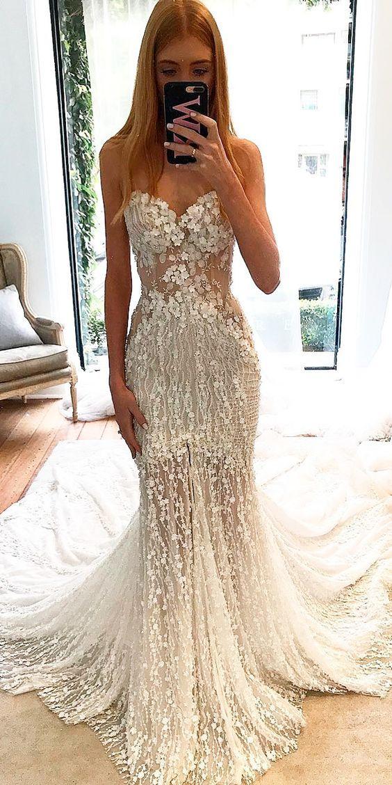 Eslieb Illusion Wedding dress 2019 High end Custom made Vestido de Noiva Wedding dresses