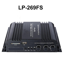 LP-269FS мини автомобильный усилитель с дистанционным управлением FM USB SD MP3 плеер радио Функция светодиодный Экран 4×45 Вт