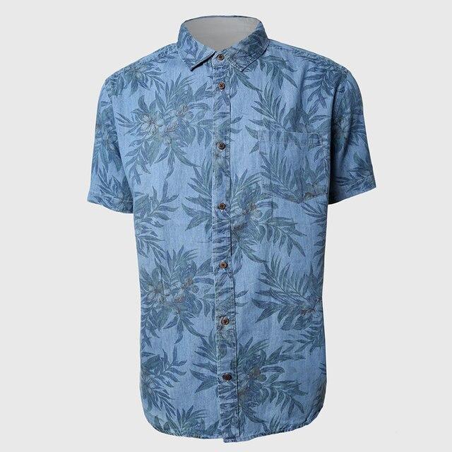 3bdd8f20b Men Short Sleeve Hawaiian Shirts Tropical Floral Print Shirts Casual Fit  Traditional Dynamic Hawaii Printed Motif