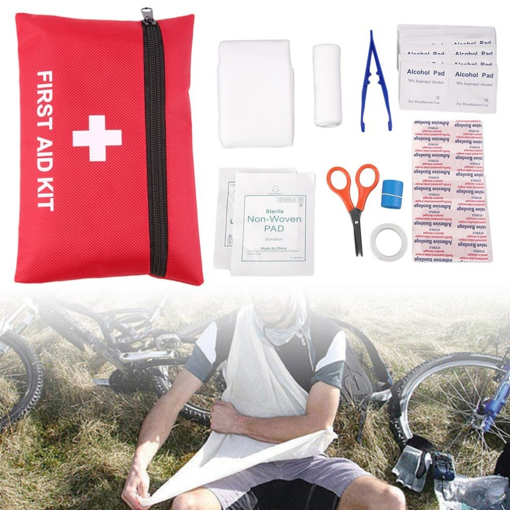 All In One Medical Emergency Survival First Aid Kit Professional Outdoor Sport Travel Camping Home Rescue Medical Treatment Pack