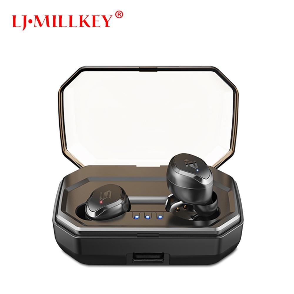 Control táctil TWS auriculares Bluetooth música estéreo en la oreja tipo V5.0 IPX7 impermeable auriculares inalámbricos verdaderos con caja de carga YZ209