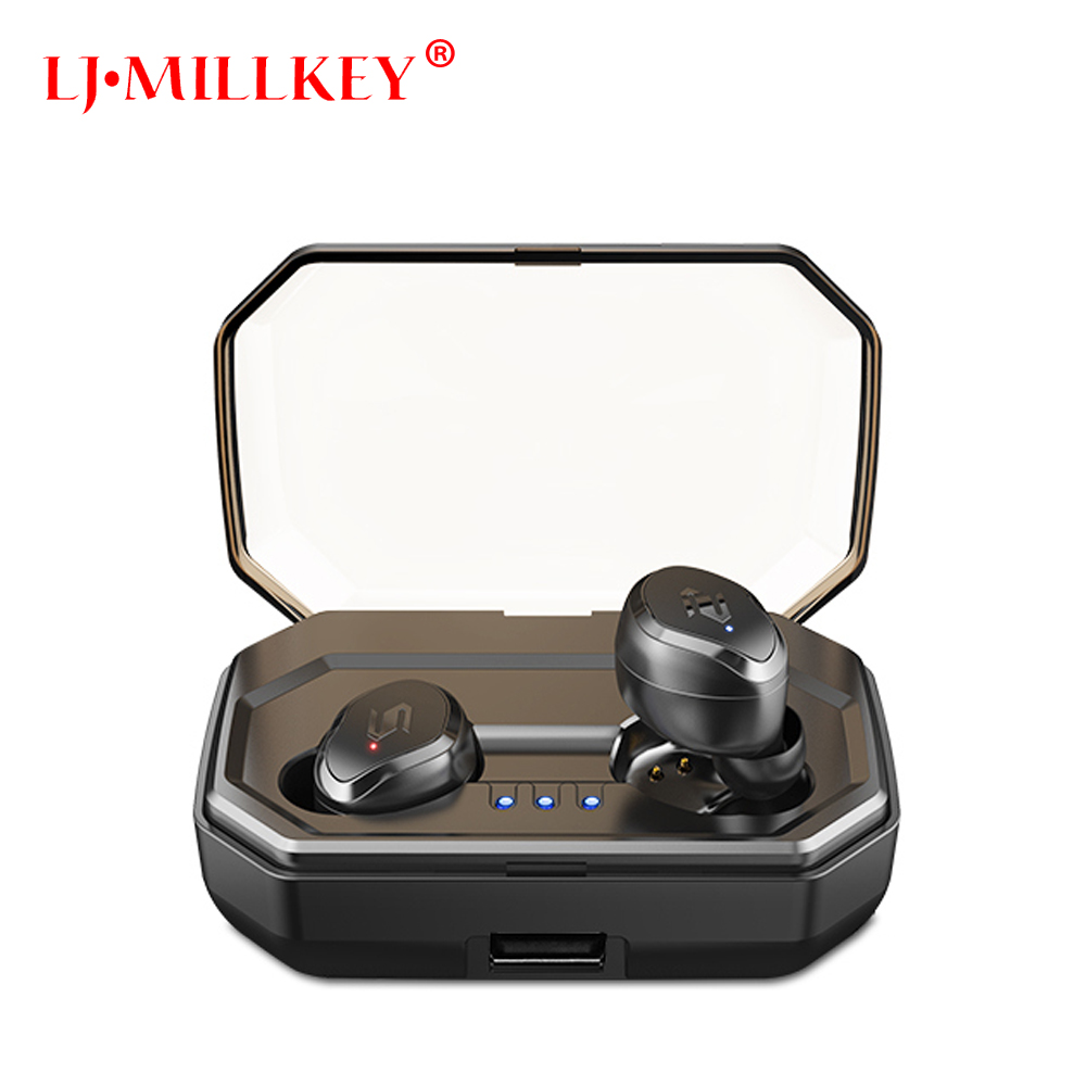 Touch Control TWS Bluetooth Earphone Stereo Music In-ear Type V5.0 IPX7 Waterproof True Wireless Earbuds with Charging box YZ209