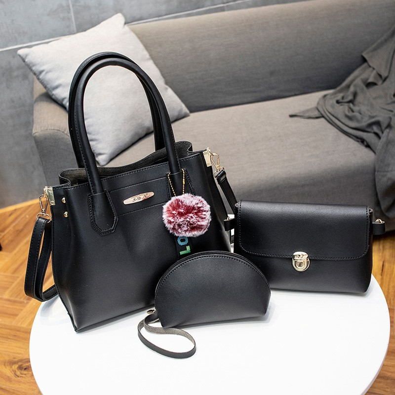 Ensemble sacs à main Vintage femmes 3 pièces/ensemble PU cuir sacs à bandoulière marque Designer dames sac fourre-tout décontracté