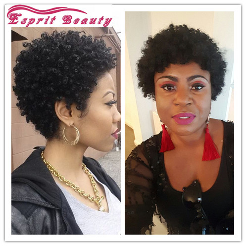Beautiful Short Afro Hairstyle For African American Women