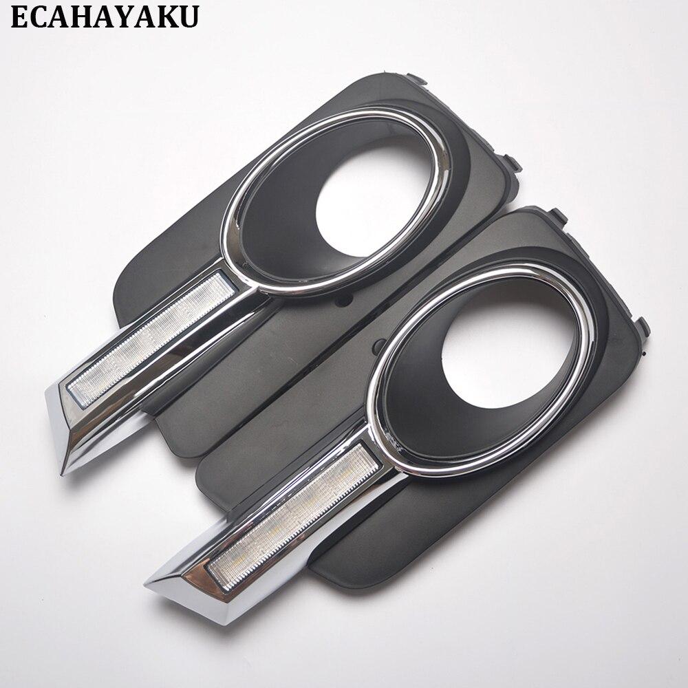 ECAHAYAKU 1 Pair Car-styling 6000K Car LED Day Light Daytime Running Light DRL for VW Tiguan 2010 2011 2012 rns510 rcd510 car rgb reversing video camera for vw tiguan a4 a7 s6 q5 a6 a5 2011 2012 5nd 827 566 c 5nd827566c
