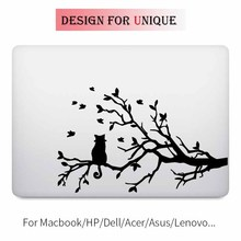 Cat on Tree Laptop Decal for Apple Macbook Sticker Pro Air Retina 11 12 13 15 inch Vinyl Mac HP Dell Mi Surface Book Cover Skin