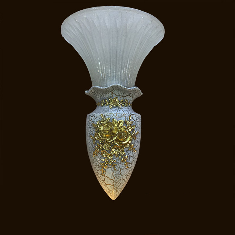 Novelty Vase + glass shade indoor Wall Light Aisle ...