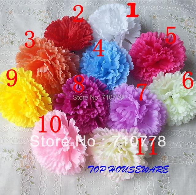 200PCS 9CM 11COLORS artificial carnation Silk flower DIY wedding ...