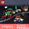 Lepin 36001 770Pcs The Creative Series Christmas Winter Holiday Train Set Children Building Blocks Bricks Christmas