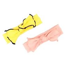 1 шт.; с большим бантом; детская эластичная повязка на голову, персикового и желтого цвета бант для волос для девочек головы Обёрточная бумага подарок на день рождения повязки на голову