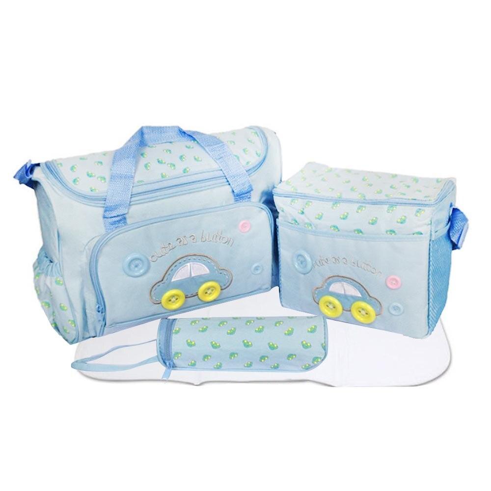 4PCS/Set Mother Print Bag Baby Diaper Bags Sets Multifunctional Baby Nursing Nappy Bag For Mom Organizer
