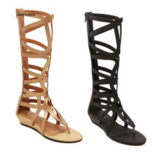 CDTS Summer sandals woman shoes genuine leather high-leg cutout mesh women's cool boots,drop shipping