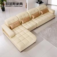 Softline итальянский кожаный диван, нубука кожаный диван, диван кожаная мебель, современный простой дизайн секционные кожаный диван 1305Q