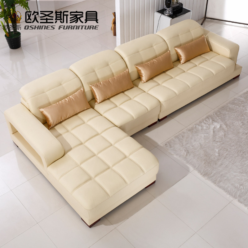 где купить softline leather sofa italian, nubuck leather sofa,sofa furniture leather,modern simple design sectional leather sofa 1305Q по лучшей цене