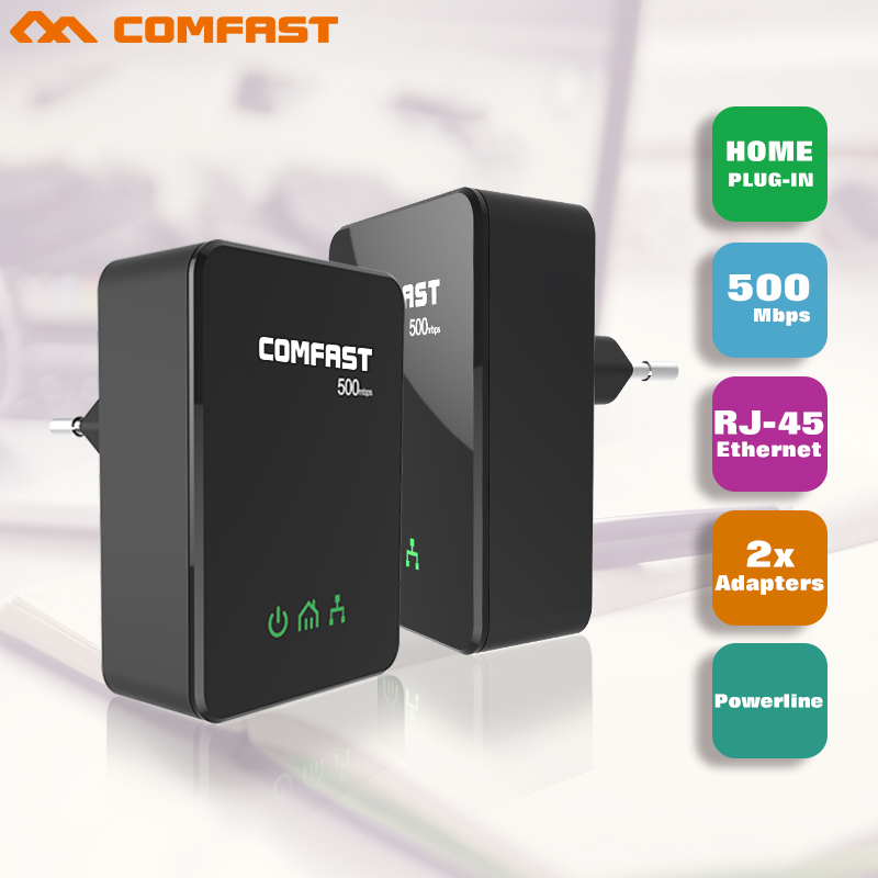Hot COMFAST 500mbps Powerline Ethernet Adapter PLC Ethernet Network /PLC Homeplug Match with Wifi Router or wifi repeater use