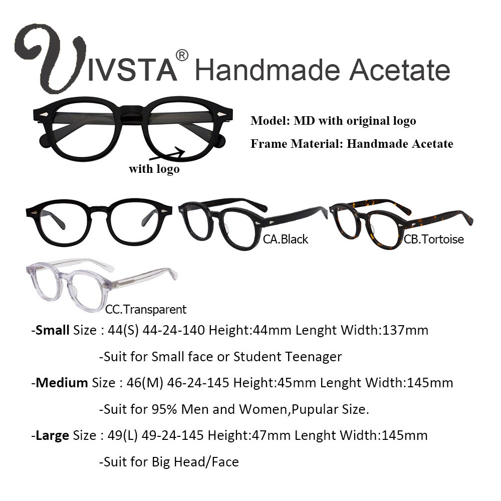 e9f4d8cb1fb Produs IVSTA with Logo Handmade Acetate Frame Women Johnny Depp ...