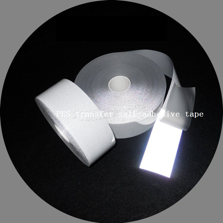 5M Length Reflective Tape Transfer Film Bright Silver Reflective PES Hot Ironing on the clothing on the bright side