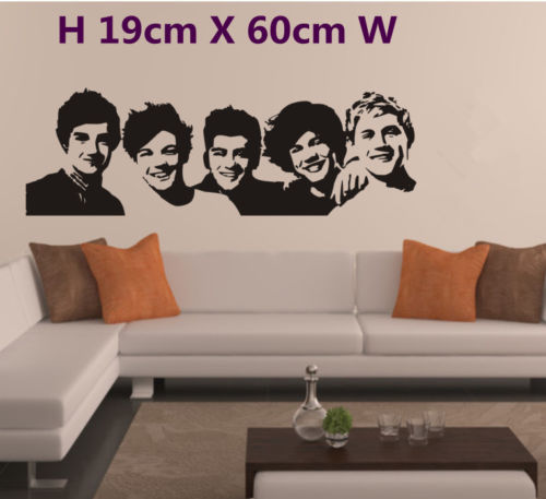 Exceptional Hand Carving ONE DIRECTION Wall Art Vinyl Room Sticker Transfer Decal 1D  MUSIC