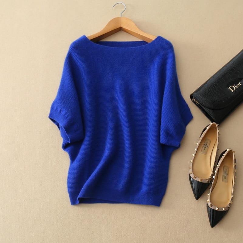 Vrouwelijke mode trui losse wollen trui kraag gestreepte dikke kop - Dameskleding