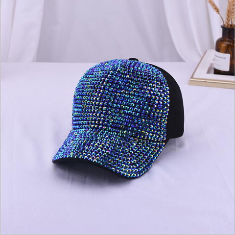 2019 Rhinestones luxury pearl Sequins Baseball Cap For Women Summer Cotton Hat Girls Snapback Hip hop hat Gorras Casquette Bones Islamabad