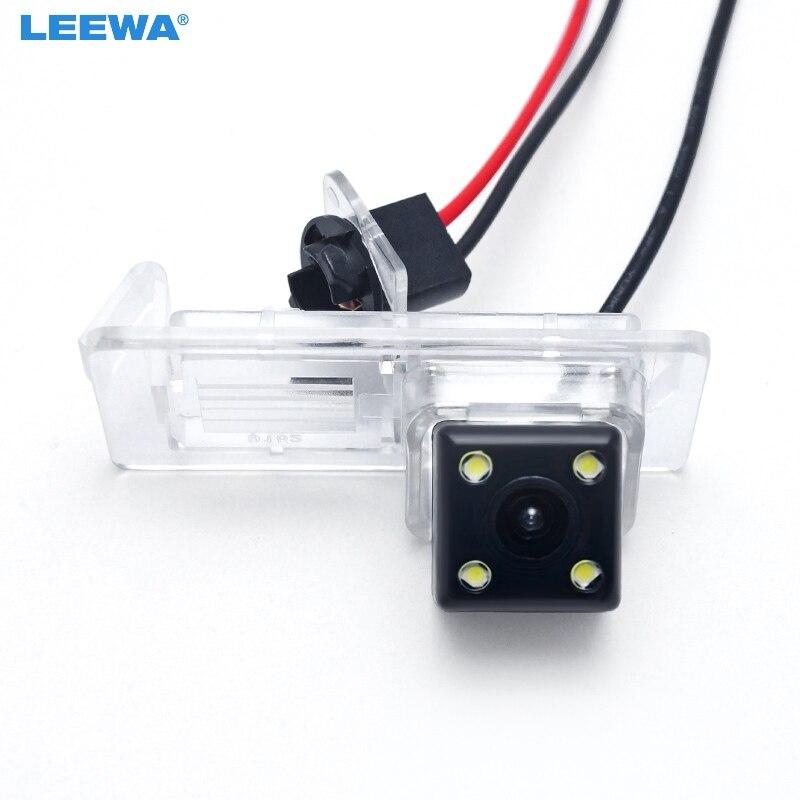 LEEWA HD Câmera de Visão Traseira Do Carro Com Luz LED Para Renault Fluence/Dacia Duster/Megane 3/Nissan Terrano # CA2810