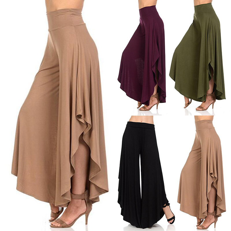 Loose Pants Ruffle Summer Women Nine-Part Spring Comfortable Cotton Casual New Irregular title=