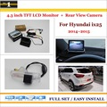 "4.3"" TFT LCD Monitor + Car Rearview Back Up Camera = 2 in 1 Car Parking System - For Hyundai ix25 2014~2015"