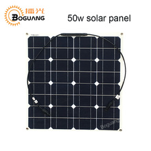 Boguang 16v 50w solar panel cell module Monocrystalline silicon 12v Solar system battery power oudoor solar charger connector