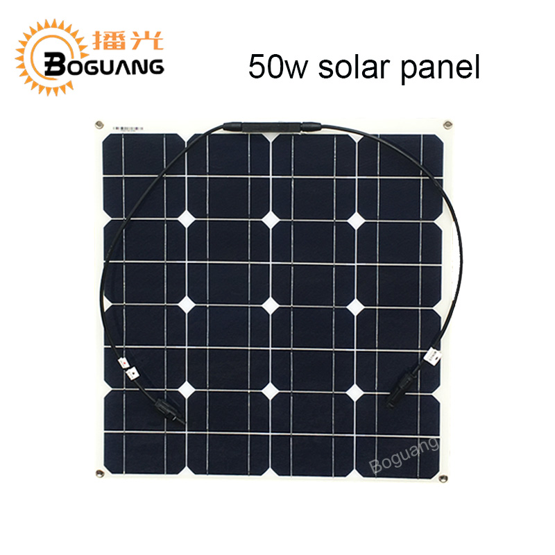 Boguang 16v 50w solar panel cell module Monocrystalline silicon 12v Solar system battery power ourdoor solar charger connector
