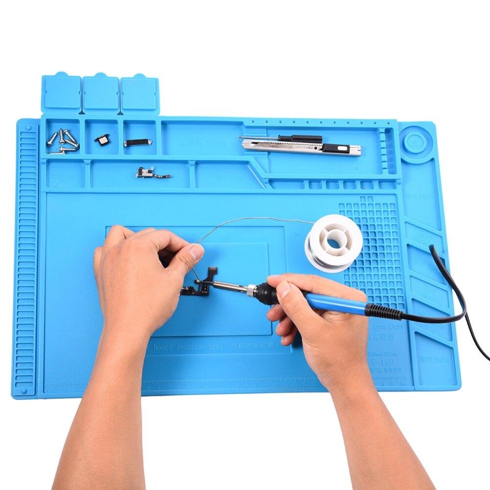 Hitzebeständige Heißluftpistole Lötstation BGA Reparatur Isolation Pad Isolator Pad Wartung Plattform Schreibtisch Matte Drop Shipping