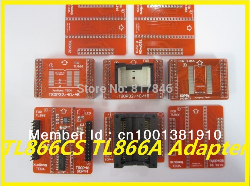 все цены на Free Shipping 100% original V3 IC Adapter for MiniPro TL866A TL866CS Programmer TSOP32 TSOP40 TSOP48 SOP44 SOP56 онлайн