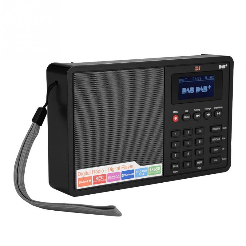 Portable Bluetooth Radio DAB FM RDS Digital Radio Stereo 1 8 inch LCD Display Support Clock