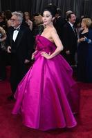Wholesale 2013 The 85th Annual Academy Awards Pink Fan Bingbing Ball Gown Ruffles Satin Oscar Celebrity
