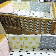 Newborn Bed Bumper Cotton/plush Cute Baby Infant Bedding Set Children Bed Protector Around Linen Ledge Cot Crib Bumpers 60*30cm