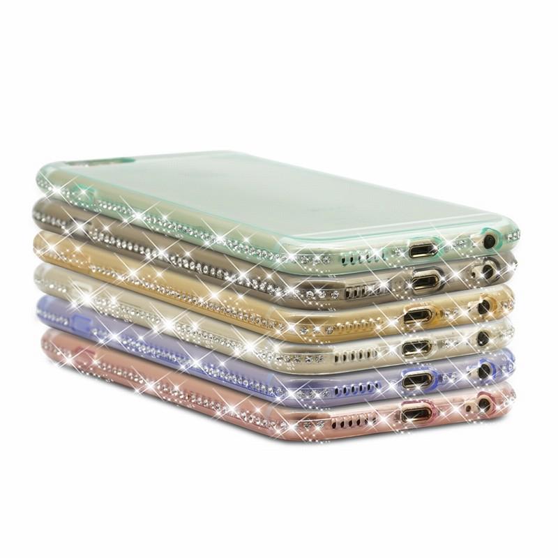 For Coque iPhone Paillettes For iPhone 6 Cases 7plus 5 S 5S SE housse telephone Luxury transparent etui Mobile Phone Accessories (42)