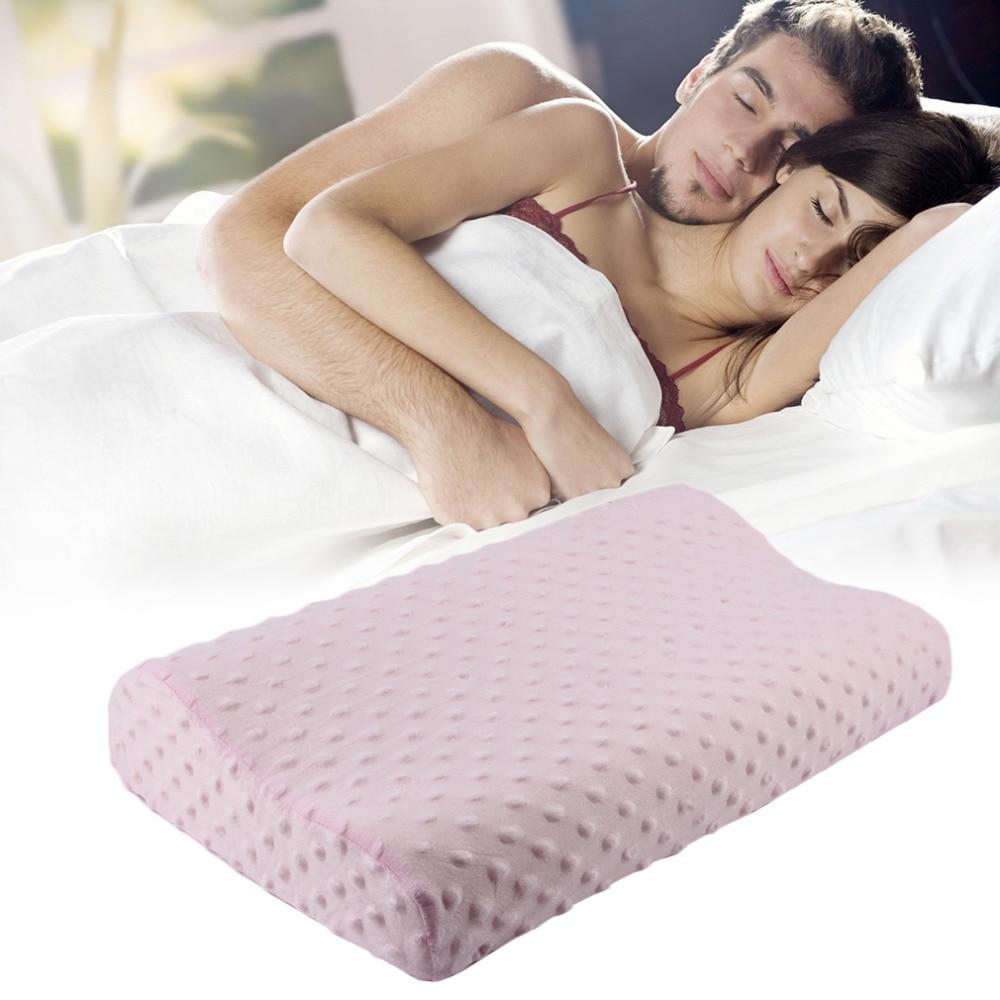 3 Color Soft Memory Foam Neck Sleeping Pillow Massager