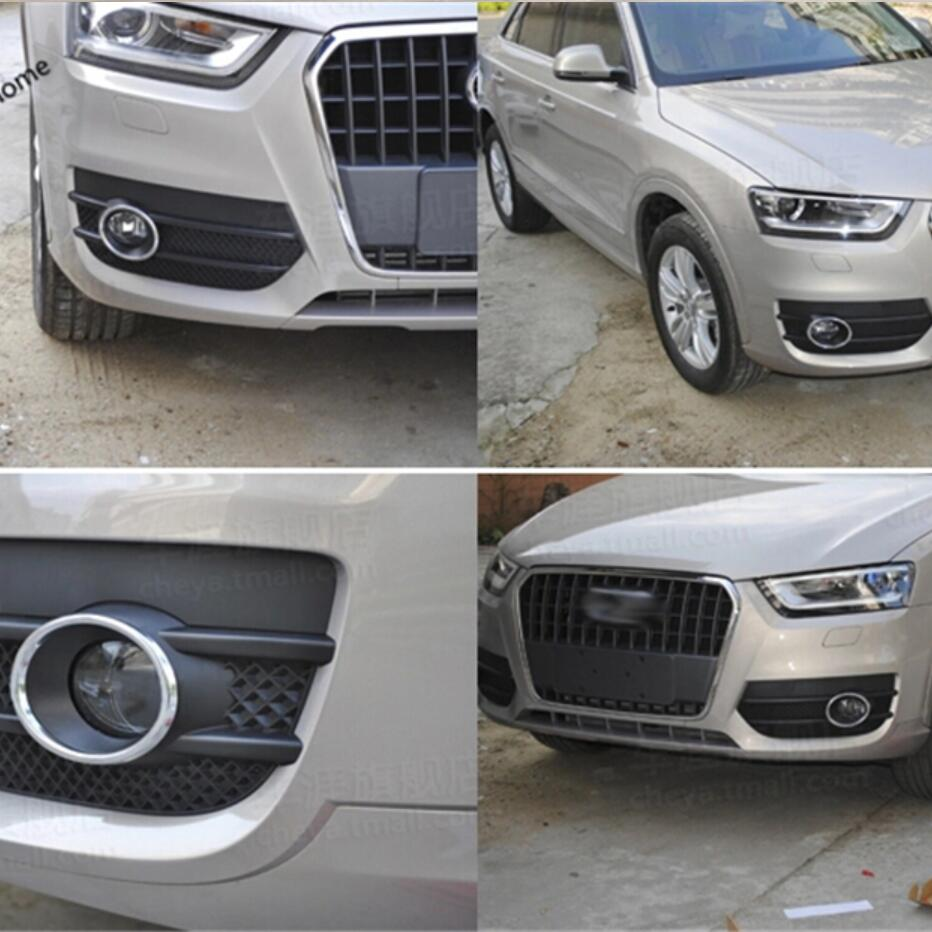 Chrome Front Fog Lamps Light Frame Cover Trim Fit for BMW X5 2014