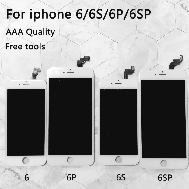 Image 2 - Black/White Assembly LCD Display Digitizer for iPhone 6s AAAA Quality LCD Touch Screen for iPhone 6 7 5s 6 plus  No Dead Pixel-in Mobile Phone LCD Screens from Cellphones & Telecommunications