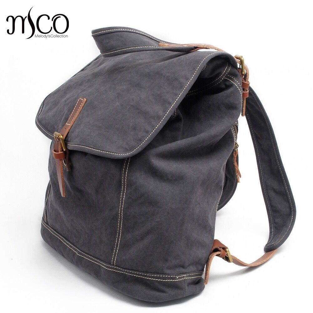 ФОТО Canvas men backpack casual bags vintage school bags for teenagers travel backpack bag Travel military backpack rucksack Mochila