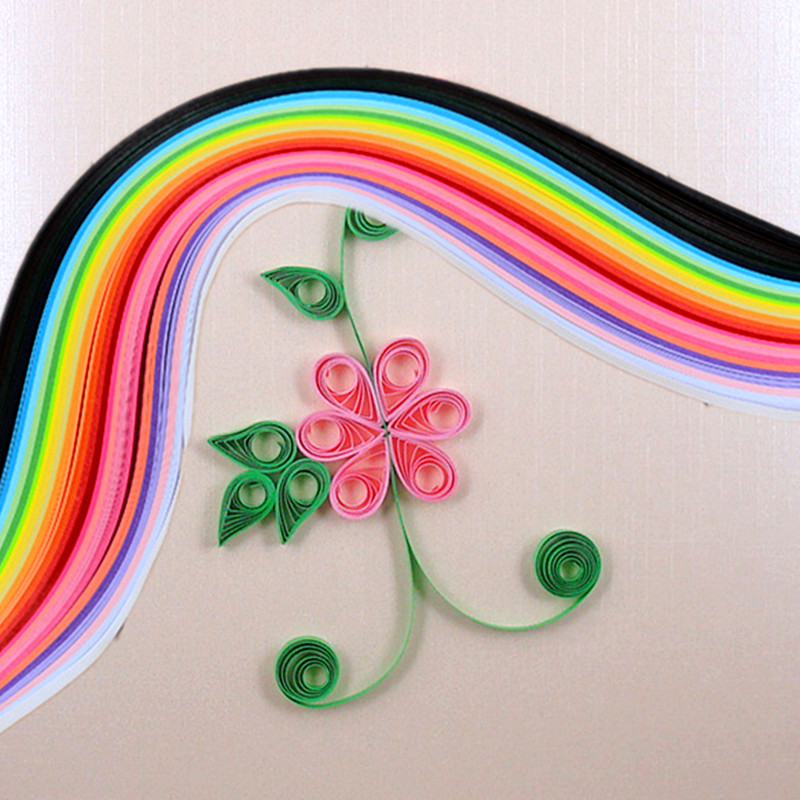 Image 3 - 260 paper quilling strips set 3mm/ 5mm/ 7mm/ 10mm 39cm flower gift paper Glue Applicator for craft DIY Quilling handmade Tools-in Craft Paper from Home & Garden