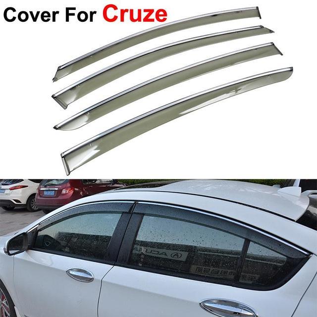 4 шт / lot окно козырьки для Chevrolet Cruze 2010 вс дождь защита наклейки крышки автомобиль для укладки маркизы приюты